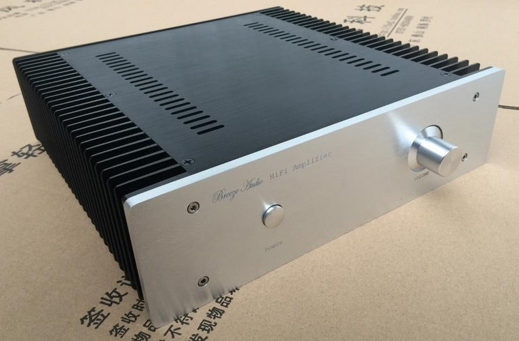 BZ3209C All Aluminum Audio Enclosure Class A Amplifier Chassis Power Amp Case DIY Box цена 2017