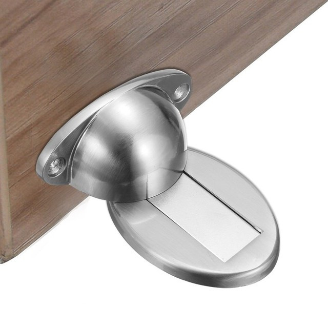 MTGATHER Magnetic Stainless Steel Door Holder Stopper Doorstop Wall Mounted  Safety Catch Door Stopper