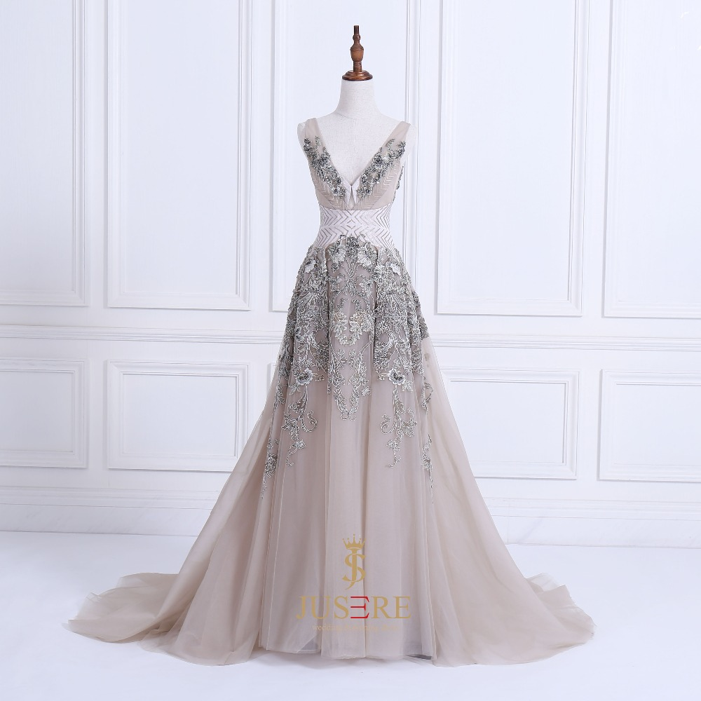 ... champagne color with beaded embroidery appliques red carpet dress  evening gown. Mouse over to zoom in 7ecceb37d64f