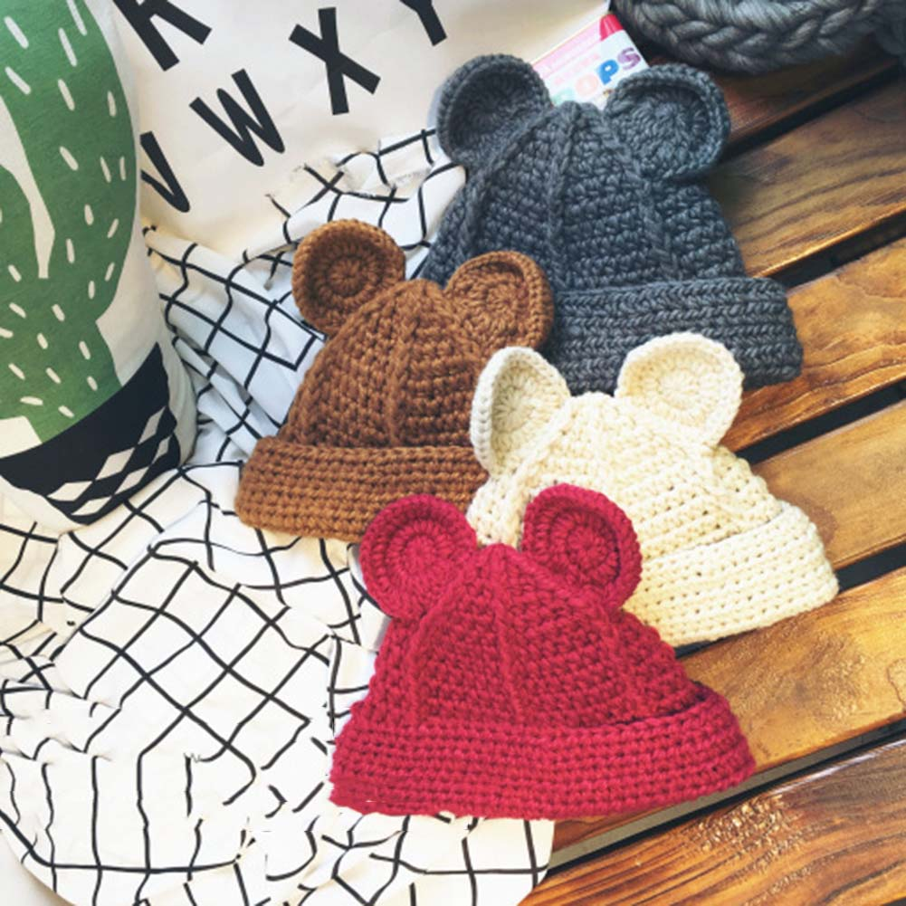Fashion Cat Ear Beanie Skull Cap Hat Female Winter Vogue Knitted Casual Warm Knitted Hats For Women Beanies Skullies For Ladies skullies female rabbit ear hat hat women s hair cap fashion cap winter cap fpc012