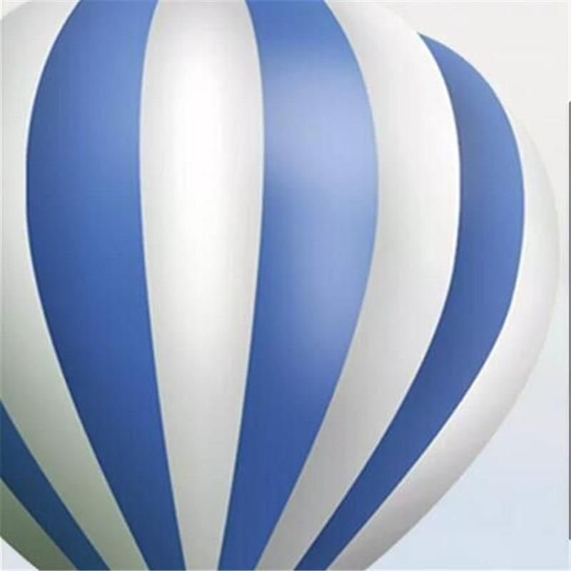 Купить с кэшбэком Nordic minimalist hand-painted cartoon aircraft balloon children's room background wall manufacturers wholesale wallpaper mural