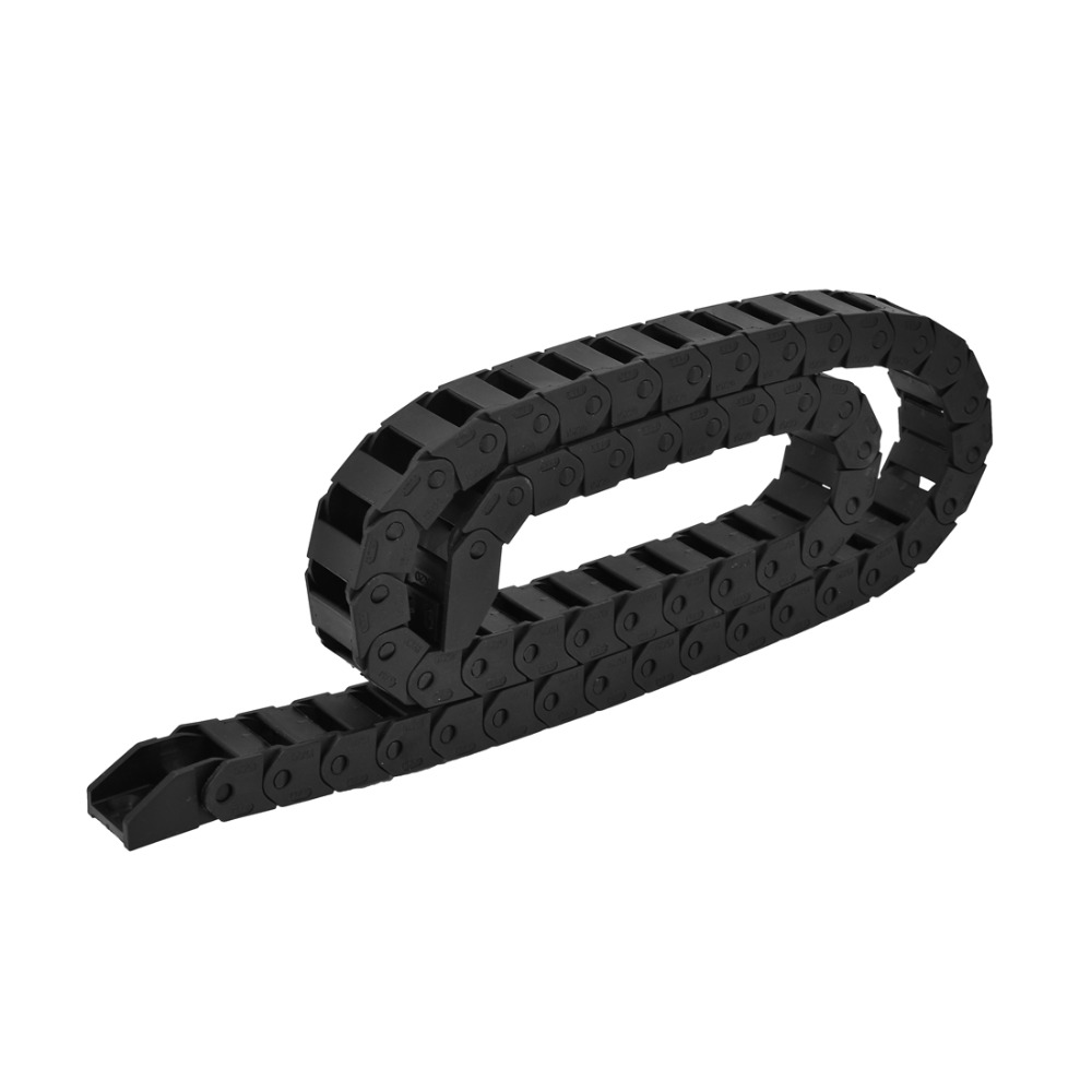 цена на 15mmx20mm Cable Drag Chain Plastic Wire Flex Towline Cable Carrier Drag Chain Black Transmission Chains Power Transmission Parts