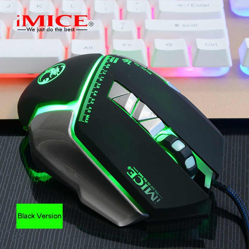 V9 imice السلكية الألعاب ماوس usb الماوس الضوئية 7 زر الكمبيوتر pc ماوس ل cs dota lol ألعاب الألعاب الفنية الفئران 4000 ديسيبل متوحد الخواص