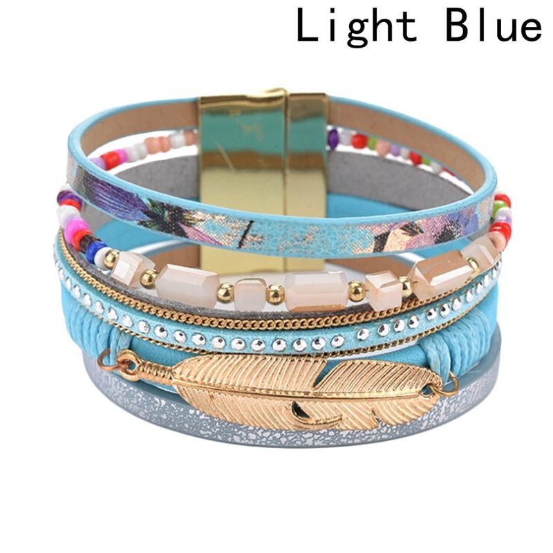 Leather Bracelet 4 Color Bracelets Summer Charm Bracelets Bohemian Bracelets&bangles For Women Gift Wholesale Jewelry
