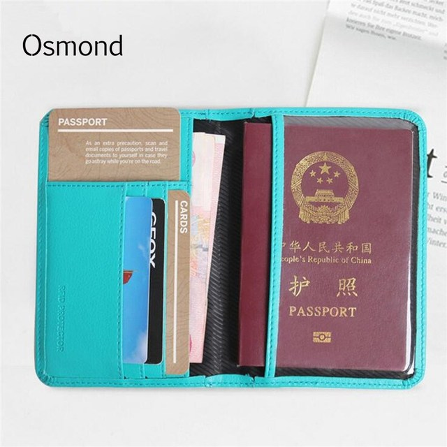 Osmond rfid 9 slots passport cover pu leather id card holder men osmond rfid 9 slots passport cover pu leather id card holder men women wallet business name colourmoves