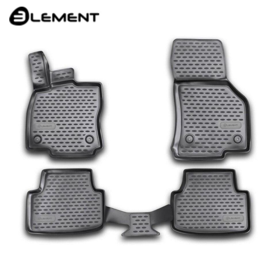 For Skoda Octavia A7 2013-2019 3D floor mats into saloon 4 pcs/set Element NLC3D4516210k for skoda octavia a7 2013 2019 3d floor mats into saloon 4 pcs set element nlc3d4516210k