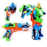 Eva2king Robot Toy Pistol Deform Toy Guns Soft Bullet Outdoor Game Sniper Air Soft Gun KidsBirthday Gifts Toys For Children