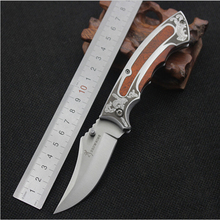 New Folding Hunting Knife Coming Camping Tactical Knife Out door survival Knives Wood handle Stainless steel Blade