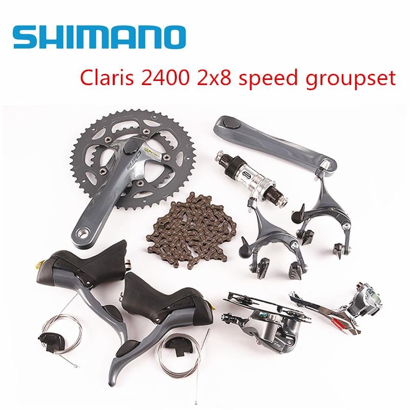 shimano Claris 2400 2x8 speed road bike bicycle groupset