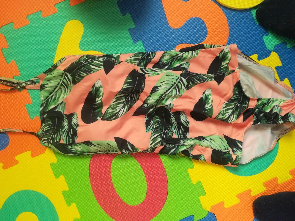 2019 Sexy One Piece Swimsuit Women Swimwear Print Bodysuit Crochet Bandage Cut Out Beach Wear Bathing Suit Monokini Swimsuit XL