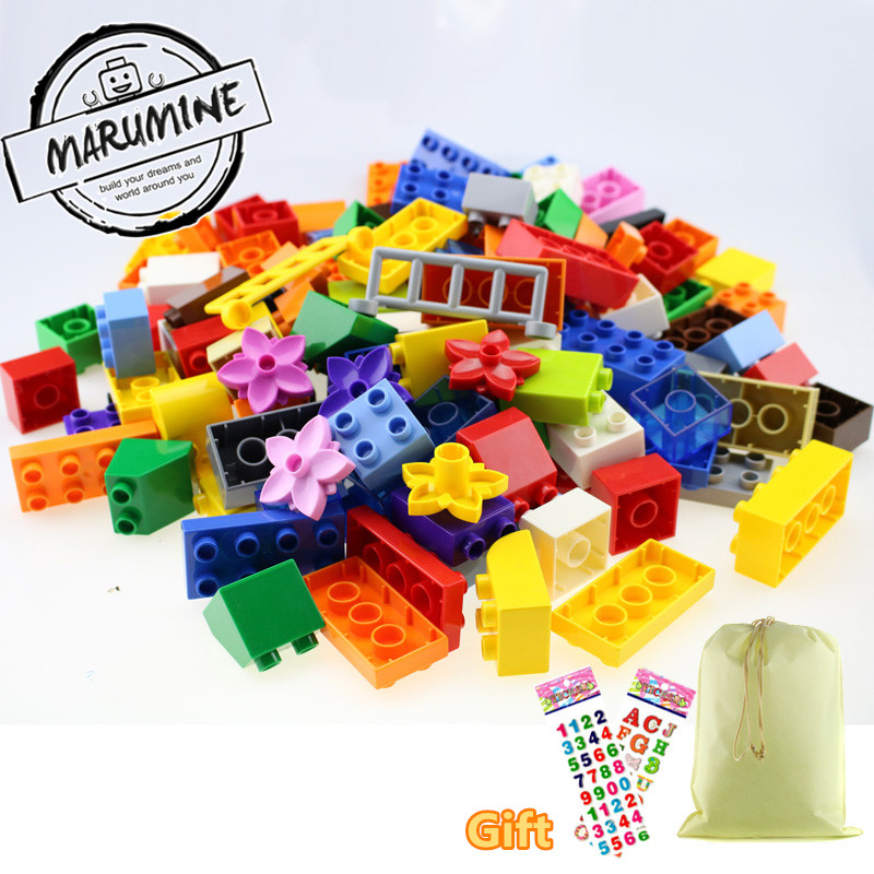 Marumine Big Size 126pcs Duplo Bricks Set City Diy