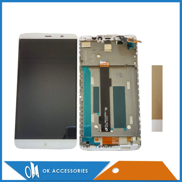 High Quality White Color For PPTV King 7 PP6000 LCD Display+Touch Screen Digitizer Assembly With Frame With Tape