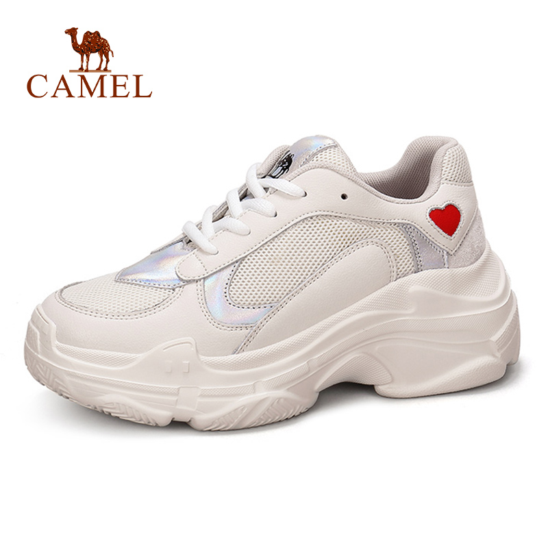 CAMEL New Women High Platform Ins Fashion Casual Shoes Women Genuine Soft Leather Retro Old School