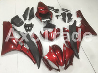 Motorcycle Fairings Kits For Yamaha YZF600 YZF 600 R6 YZF-R6 2006 2007 06 07 ABS Injection Fairing Bodywork Kit Red Black B57