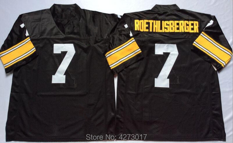 b91e8b9f6 Mens 7 Ben Roethlisberger Embroidered Throwback Football Jersey Size M-XXXL