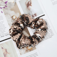 Colored Sequin Hair Scrunchies Women hair Accessories Elastic Rope Bow Ties Ponytail Holder Hairband