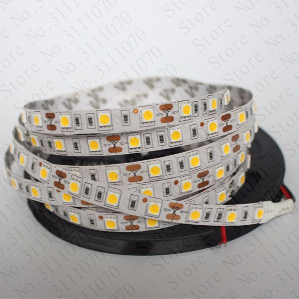 Best price LED strip light 5050 5m 300 LED 60led/m no waterproof / IP65 waterproof 12V 24V flexible light 5050 LED strip tape best price 5pin cable for outdoor printer