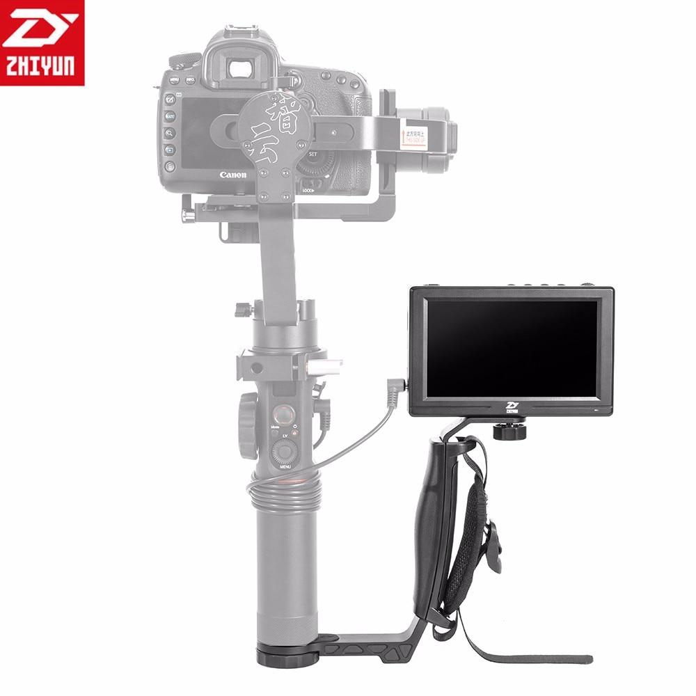 лучшая цена 2018 Zhiyun 5.5'' Camera LCD Monitor + Zhiyun Mini Dual Grip for Zhiyun Crane 2 Crane V2 Crane M Gimbal Stabilizer