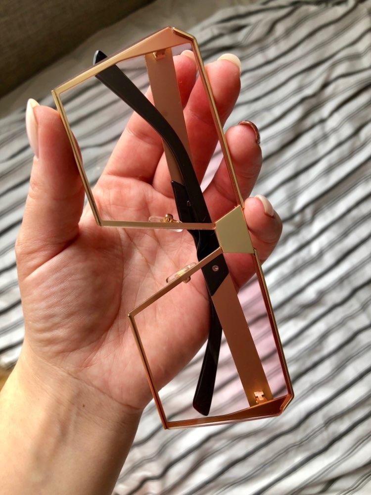 Королевский Девушка Брендовая Дизайнерская негабаритный квадратный Солнцезащитные очки женщин  ss953-1