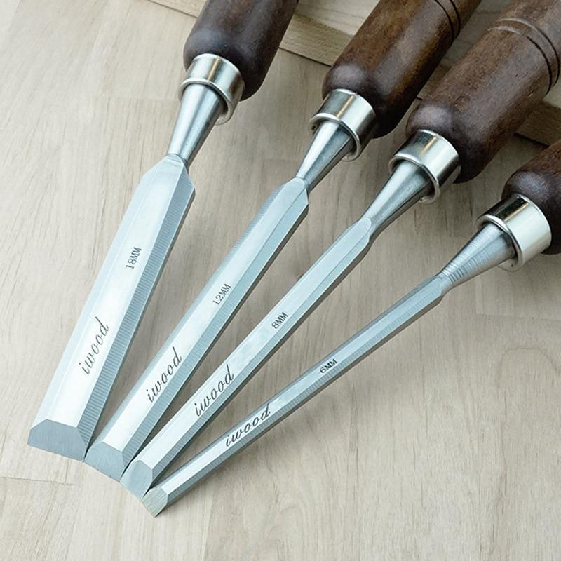 6mm 8mm 12mm 18mm High Quality Chrome Vanadium Alloy Steel Flat Chisel Wood Chisel