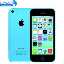 Ursprüngliche Marke fabrik Entsperrt Apple iPhone 5C Handy 16 GB 32 GB dual core WCDMA WiFi 8MP Kamera Cell handys Smartphone
