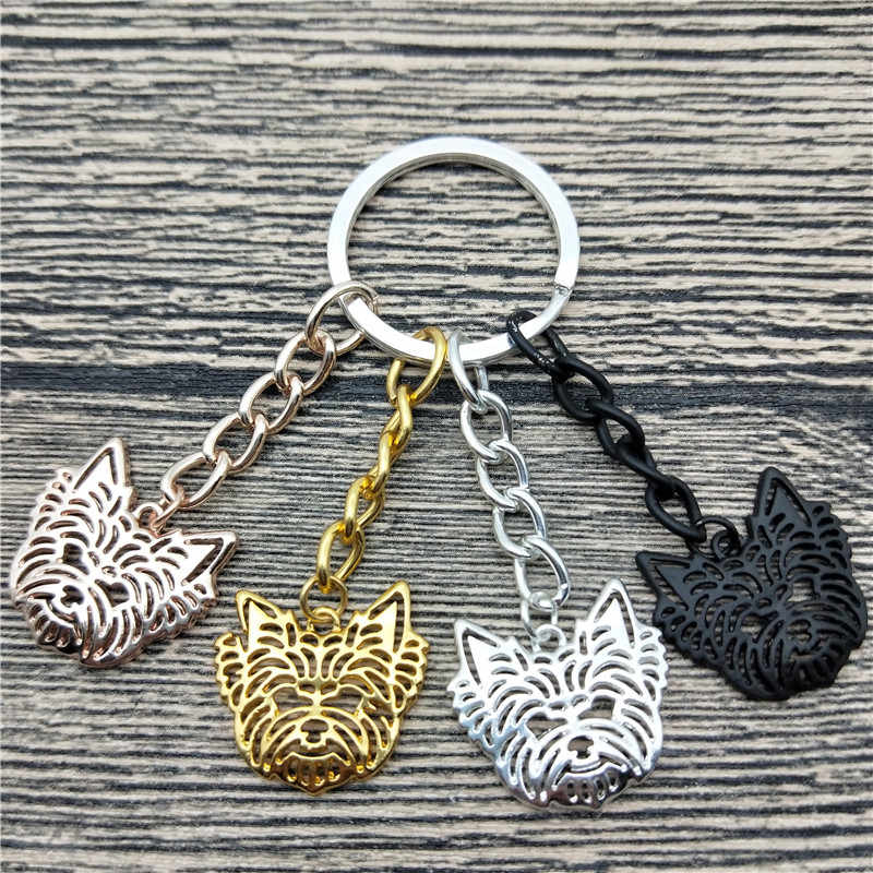 New Yorkshire Terrier Key Chains Fashion Pet Dog Jewellery Trendy Yorkshire Terrier Car Keychain Bag Keyring For Women Men