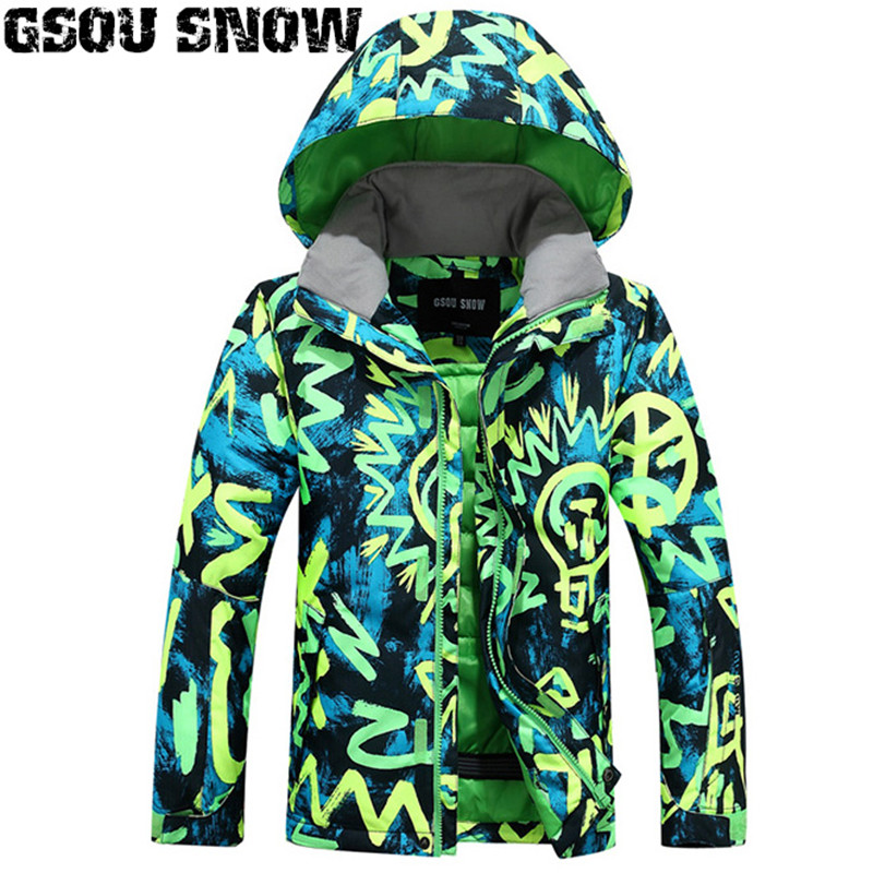 2019 GSOU SNOW Boys Ski Jacket Snowboard Jacket Windproof Waterproof Thermal Breathable Kids Children Outdoor Sport Wear Coat2019 GSOU SNOW Boys Ski Jacket Snowboard Jacket Windproof Waterproof Thermal Breathable Kids Children Outdoor Sport Wear Coat