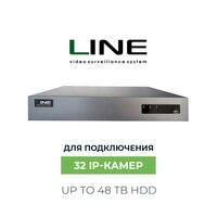 Линия NVR 32 канальный Сетевой IP видеорегистратор Onvif H.264 Dvr 32ch видео регистратор видеонаблюдения для ip камер выносной жесткий диск 3.5 hdd 48 тб