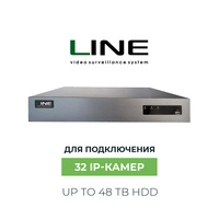 Line NVR 32 Channels Onvif H.264 Multiple languages Security Surveillance CCTV Dvr 8mp 32ch Network Video Recorder for ip camera