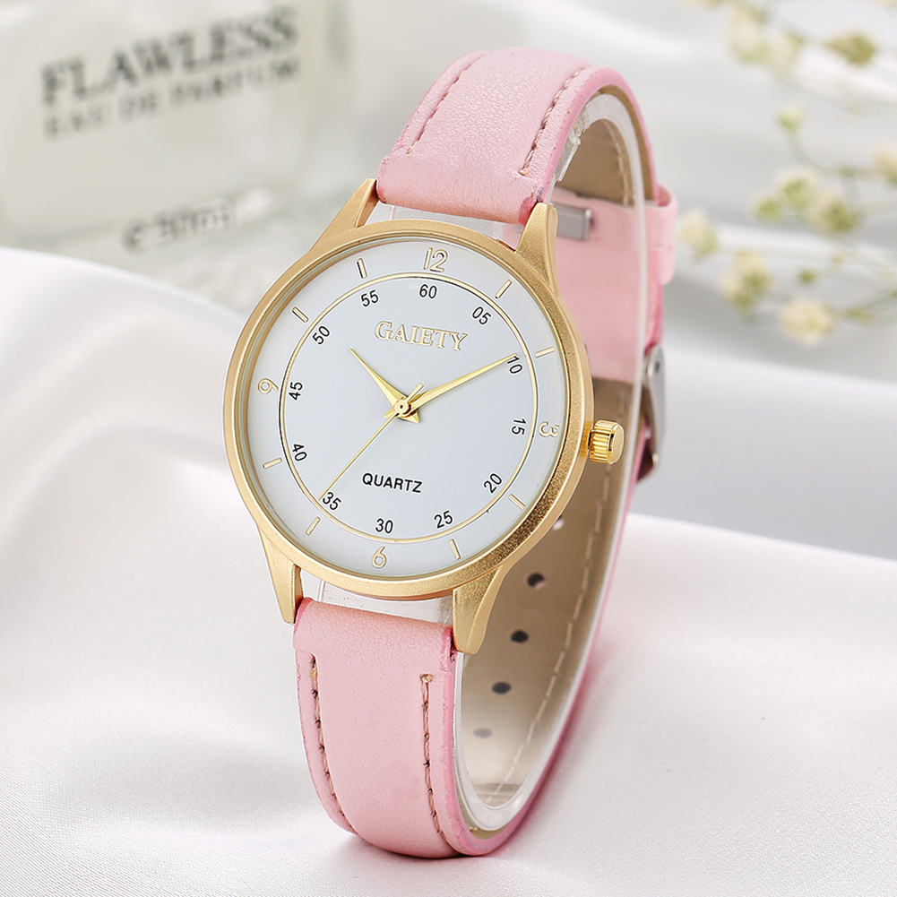 2017 New Watches Women Fashion Design Attractive Dial Pink Leather Band Analog Geneva Quartz Wrist Students Girls Ladies Watch women with silicone watches fashion women round dial quartz analog wrist watch casual coloful design girls gift branded ladies page page 4