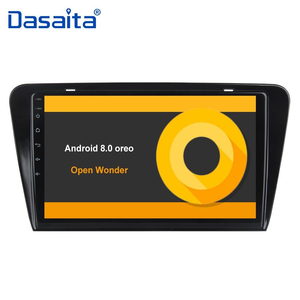 Android 8.0 Octa Core 4 GRAM Voiture lecteur multimédia pour Skoda Octavia 2014 2015 2016 2017 avec 10.2 HD écran tactile built-in GPS