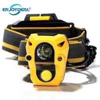 2000LM phare LED phare IR capteur 5 W COB XPE LED casque lumière tête lampe torche chasse Camping pêche tactique