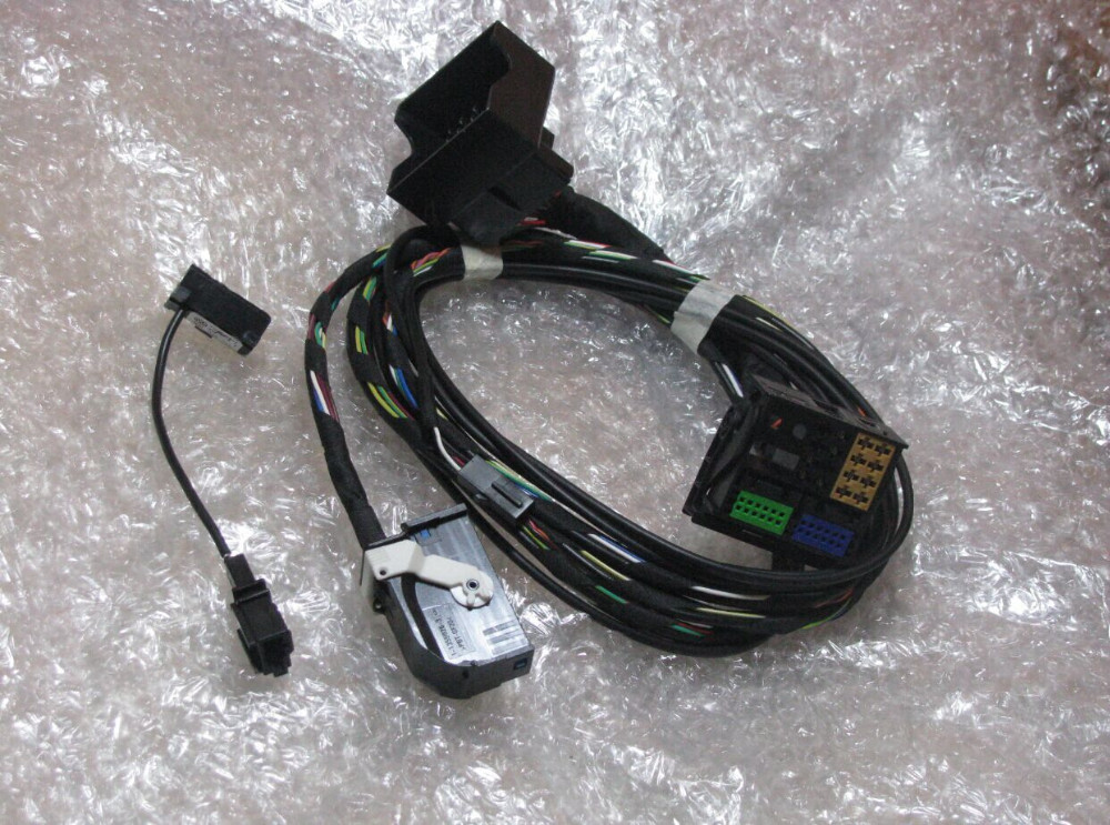VW OEM Bluetooth Cable Wiring Harness Fits For VW RCD510 RNS510 Tiguan Golf Jetta MK5 MK6 aliexpress com buy vw oem bluetooth cable wiring harness fits For Ford 302 Fuel Injection Wiring Harness at alyssarenee.co