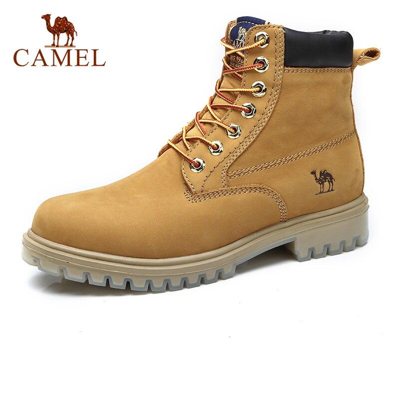 CHAMEAU Hommes de Bottes D'hiver Homme Rembourrage En Cuir Véritable Martin Outillage Boot Texturé Gommage Mâle Cheville Botas Chaussures