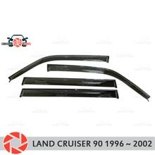Окна дефлектор для Toyota Land Cruiser 90 1996 ~ 2002 Дождь Отражатель грязь защиты Тюнинг автомобилей украшения аксессуары для литья