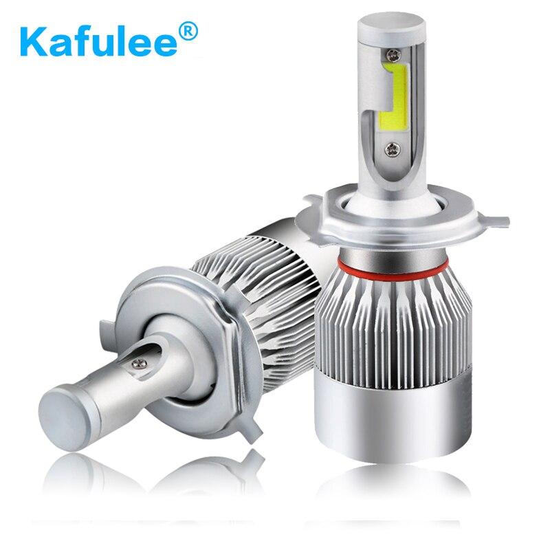 GZ Kafulee c6 auto HA CONDOTTO LA Luce H1 H3 H4 h7 ha condotto la lampadina H8 H9 H11 9005 9006 9012 HB3 HB4 led Auto faro ha condotto la lampada 6000 K 72 W 4000LM
