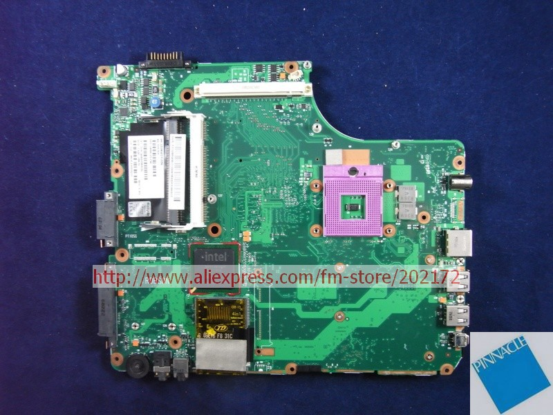 V000125790 Motherboard for Toshiba Satellite A300 A305 6050A2171301 tested good nokotion sps v000198120 for toshiba satellite a500 a505 motherboard intel gm45 ddr2 6050a2323101 mb a01