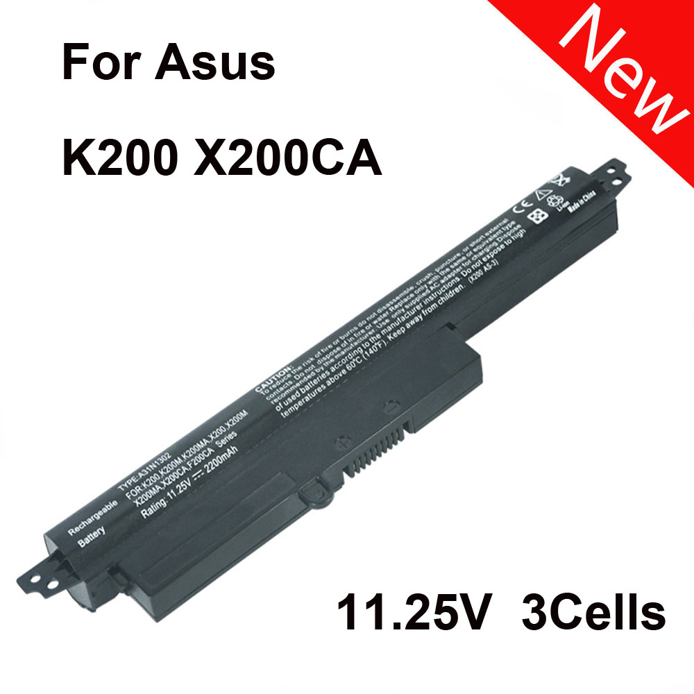Nuova Batteria Del Computer Portatile di Alimentazione Per Asus VivoBook K200 VivoBook X200 X200CA F200CA A31N1302 A31LM9H Notebook Charger 2200 mAh SZ