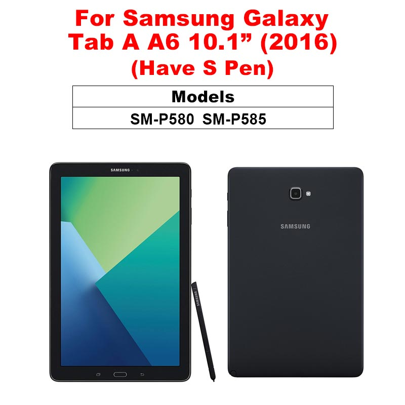 Защитная пленка для экрана samsung Galaxy Tab A 10,1 A 8,0 10,5 9D с закругленными краями из закаленного стекла для Galaxy Tab S5e S4 S6 - Цвет: Tab A 10.1 P580 P585