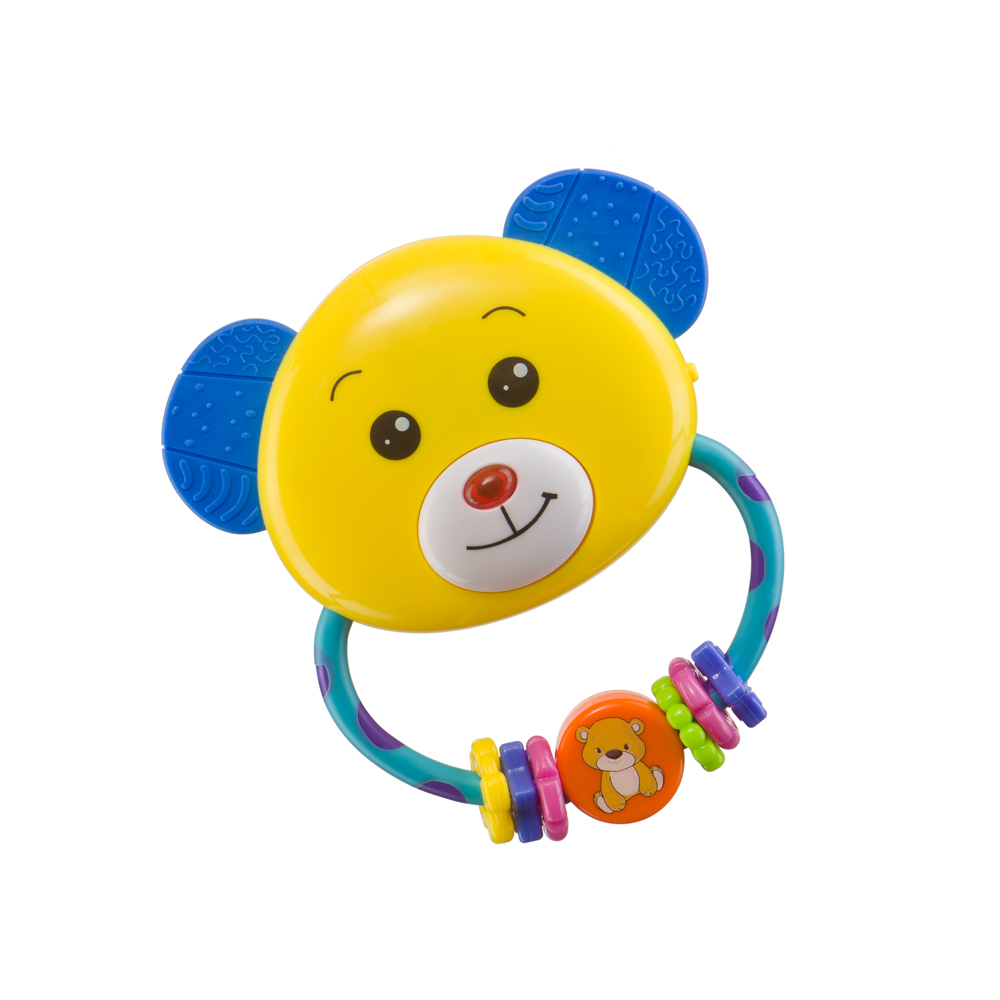 Toy-rattle UMKAS Happy Baby 330307 kid rattle toy color block lovely animal shaped fashion creative plush toy