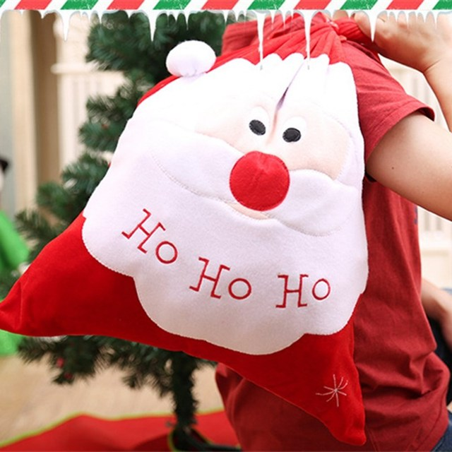 xl christmas gift bag santa claus pleuche large gift bags belt buckle door back father christmas
