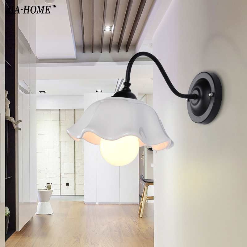 Countryside Wall Living Room Aisle Corridor Wall Lamp Simple Modern Bedroom Bedside Wall Light Single Head luminaire Sconce