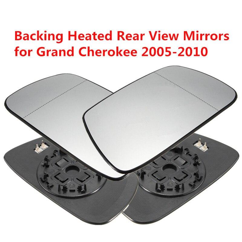 Izquierda derecha Exterior climatizada espejo retrovisor espejos del Exterior del coche calefacción retrovisor espejo para Jeep Grand Cherokee 02 -05
