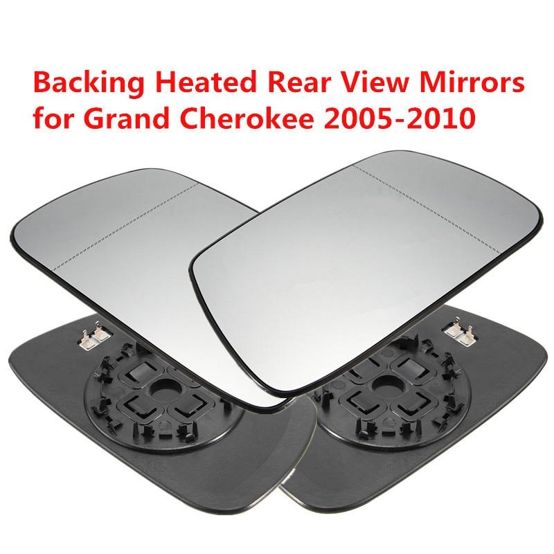 Lato Destro e sinistro Al di Fuori Specchi Retrovisori Esterni Riscaldamento Riscaldata Specchietto retrovisore Auto Specchietto retrovisore Vetro per Jeep Grand Cherokee 02-05