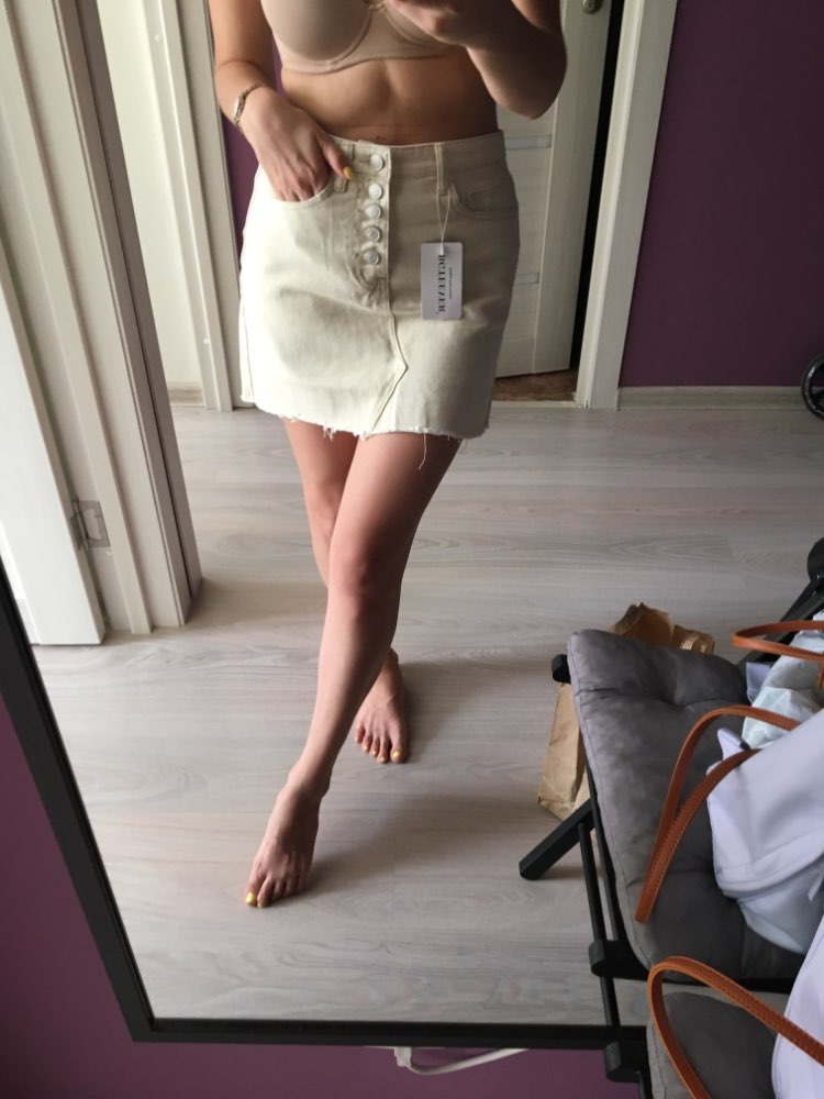 4 Colors High Waist Summer Women Denim Skirt Pockets Sexy Single Breasted Tassel Female Jeans Skirts Pencil Mini Saia Mujer photo review