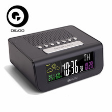 Digoo DG FR100 Smart Set Digitale Senza Fili di Allarme Orologio Previsioni meteo di Sonno con Radio FM Orologio