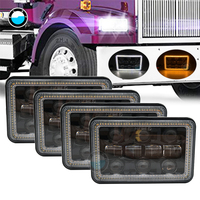 Прямоугольные 4x6 светодиодный фары Hi/Lo морской Светодиодный луч запасные фары для GMC Ford грузовики Chevrolet 4x6 ''светодиодный налобный фонарь.