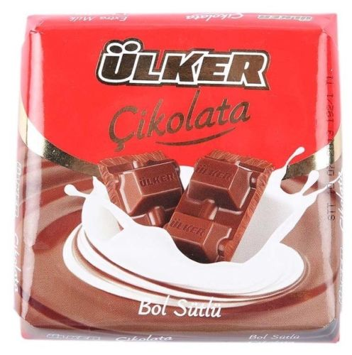 "ULKER "" Milk Chocolate "" 6 X 2.47 Oz 420 Gr ""NEW TASTE"" From TURKEY"