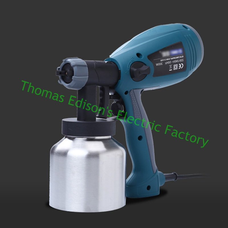 800ml 2 5mm 500w Detachable high pressure electric spray gun spray nozzle adjustable type control flow