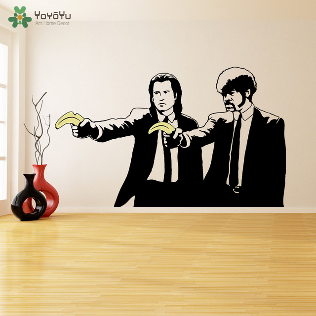 Wall Decal Vinyl Sticker Banksy Pulp Fiction Graffiti Guys with ...